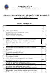 tassa rifiuti tariffe dall'anno 2012 - Comune di Cislago