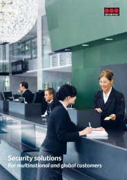 Security solutions for multinational and global customers - Securitas