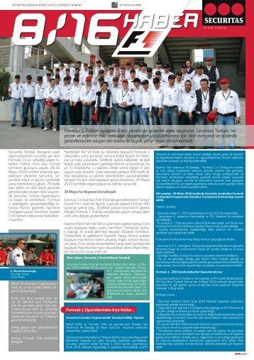 8/16 Haber F1 Özel Sayısı 2010 - Securitas