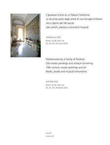 Capolavori d'arte di un Palazzo Fiorentino La seconda ... - Babuino