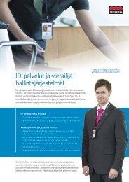 ID-palvelut ja vierailija- hallintajärjestelmät - Securitas