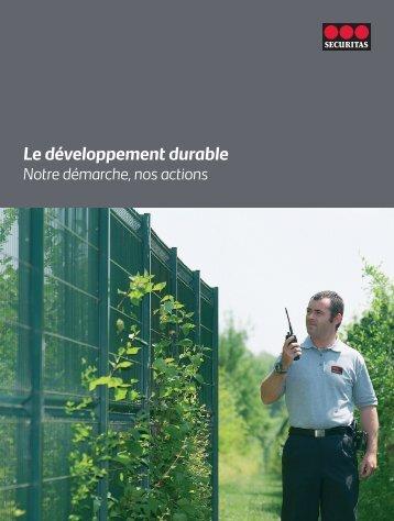 Le développement durable - Securitas