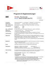 Programm & Segelanweisungen 2007 - Seemannschaft Berlin eV