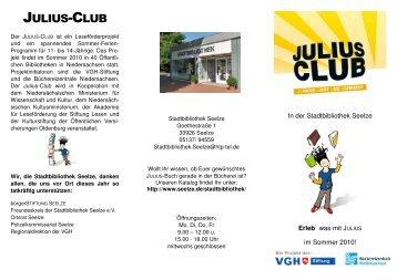 VeranstaltungenFlyer JULIUS-Club 2010