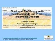 Eine kleine Einführung in die Gewässerkunde und in die allgemeine ...