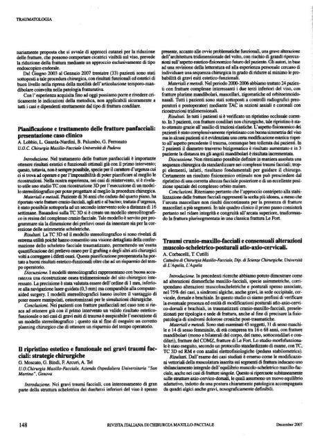 Pianificazione e trattamento delle fratture pan facciali: presentazione ...