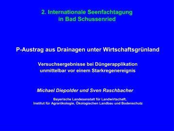 P-Austrag aus Drainagen unter Wirtschaftsgrünland 2. Internationale ...