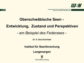 Oberschwäbische Seen - Aktionsprogramm Sanierung ...