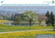 Der Sulzberger See – von der Algensuppe zum ungetrübten ...