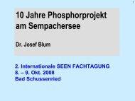 10 Jahre Phosphorprojekt am Sempachersee