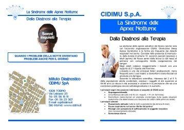 sindrome delle apnee notturne - in CiDiMu.it