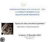 Approccio alla consulenza genetica - Associazione Semi per la SIDS