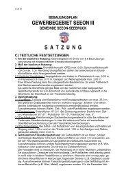 GEWERBEGEBIET SEEON III S  A  T  Z  U  N  G - Seeon - Seebruck