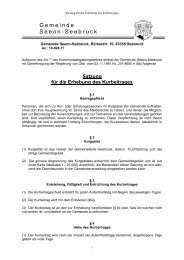 Satzung für die Erhebung des Kurbeitrages - Seeon - Seebruck