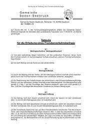 Satzung für die Erhebung eines ... - Seeon - Seebruck