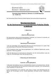 Benutzungsordnung für die Seminarräume im ... - Seeon - Seebruck