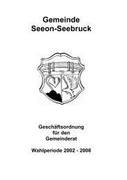Geschäftsordnung für den Gemeinderat ... - Seeon - Seebruck