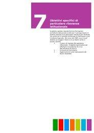 7. Obiettivi specifici di particolare rilevanza istituzionale - Azienda ...