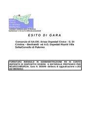 OGGETTO: Servizio in service di dialisi peritoneale domiciliare