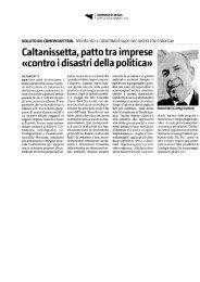 Caltanissetta, patto tra imprese - Confindustria Sicilia