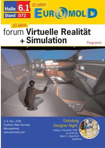 forum Virtuelle Realität + Simulation