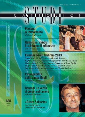 Persona & immortalità Elezioni 24-25 febbraio 2013 ... - Edizioni Ares