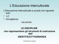 Curricolo di Italiano e Educazione interculturale - Lisalab