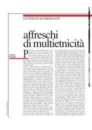 Letteratura migrante. Affreschi di multietnicità. ROCCA, ottobre 2008