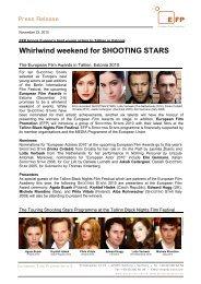 Whirlwind weekend for SHOOTING STARS - European Film Promotion