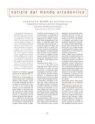 notizie dal mondo ortodontico - Società Italiana di Ortodonzia