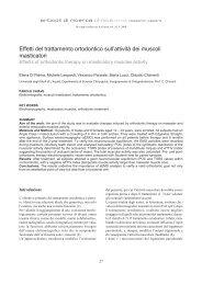 Effetti del trattamento ortodontico sull'attività dei muscoli masticatori
