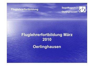 Kommunikation - Segelflugschule Oerlinghausen