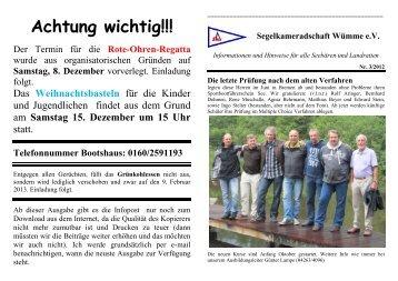 Achtung wichtig!!! - Segelkameradschaft-wuemme.de