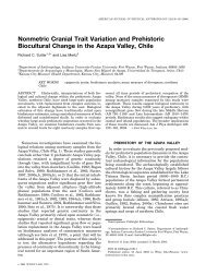Nonmetric Cranial Trait Variation and Prehistoric Biocultural Change ...