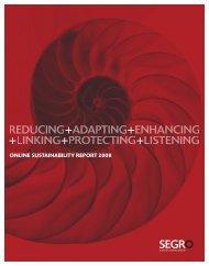SUSTAINABILITY REPORT 2008 - Segro