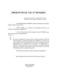 projeto de lei cm nº 019-01/2013 - Câmara Municipal de Vereadores ...