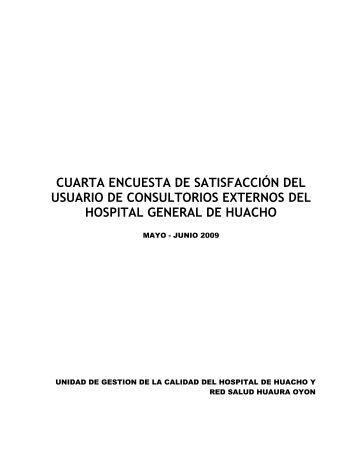Encuestas de Satisfacción del Usuario - Hospital General de Huacho