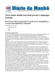 Nova classe média tem mais jovens e empregos formais - TRT18
