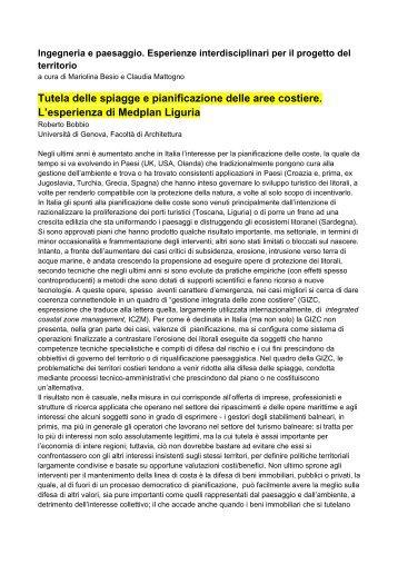 relazione - Architettura e Urbanistica per l'Ingegneria