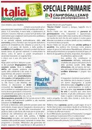 speciale primarie - Partito Democratico - Circolo di Campogalliano