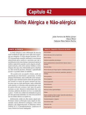 Rinite Alérgica e Não-alérgica Capítulo 42