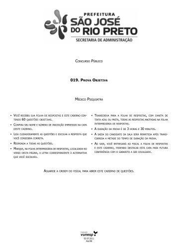 Caderno de Questões da Prova Objetiva - Central de Concursos