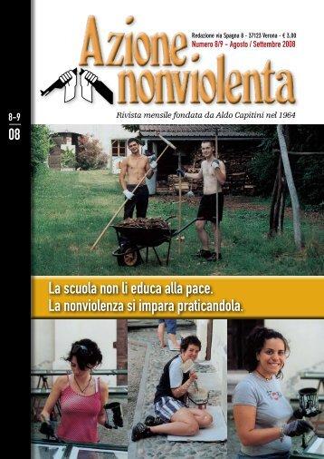 Agosto Settembre 2008 - Movimento Nonviolento