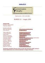 maggio 2009 - Società Filosofica Italiana