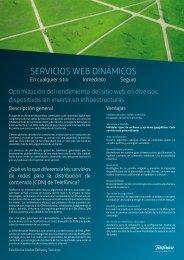 SERVICIOS WEB DINÁMICOS - Telefonica