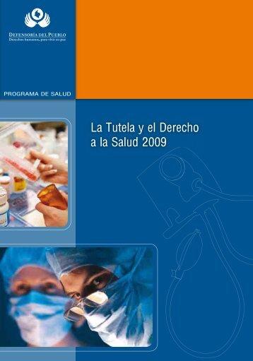 La Tutela y el Derecho a la Salud 2009 - Defensoría del Pueblo