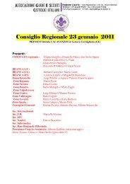 Verbale Consiglio Regionale 23 gennaio 2011 - Agesci Liguria