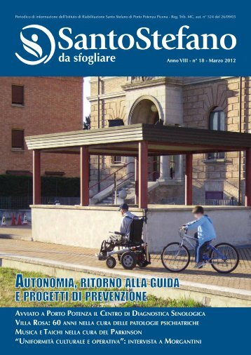 autonomia, ritorno alla guida e progetti di prevenzione - S. Stefano
