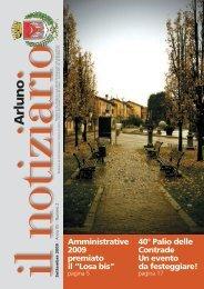 Notiziario settembre 2009 - Comune di Arluno