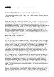 RICCARDO BELLOFIORE: Marx rivisitato: capitale, lavoro ... - Alp Cub